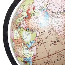 big decorative rotating globe pink ocean world geography earth