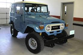 1977 toyota land cruiser 1977 toyota fj40 land cruiser blue 4 speed fully restored and