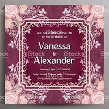 Single Card Wedding Invitations Romantic Wedding Invitation In Burgundy Colors Floral Square Card