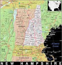 Map Of New England States by Nh New Hampshire Public Domain Maps By Pat The Free Open