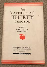 vintage caterpillar thirty tractor crawler sales brochure manual