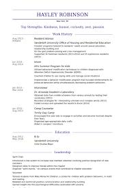 resident advisor resume samples visualcv resume samples database