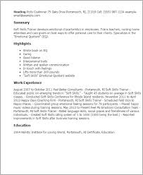 Training Resume Examples by Professional Soft Skills Trainer Templates To Showcase Your Talent
