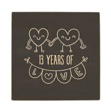 13th anniversary ideas 13th anniversary gift chalk hearts wooden coaster wood wedding