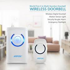 wireless doorbell system with light indicator agptek wireless doorbell blue led indicator 36 chimes loud ring