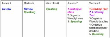 la clase de español spanish ii fall 2015