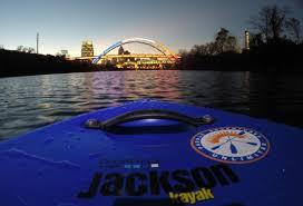 Kayak Night Lights Jackson Kayak Supernatural Nashville Urban Night Paddle