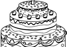 birthday cake coloring pages coloring4free com
