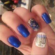hanukkah nail nail ideas popsugar beauty