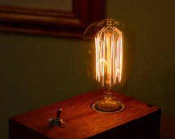 duel edison bulb table lamp