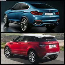 evoque land rover bmw x4 vs range rover evoque photo comparison