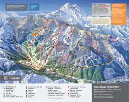 Snow Map Usa by Crystal Mountain Trail Map