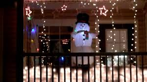 Christmas Light Ideas by Christmas Lights On Balcony Youtube