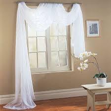 Sheer Swag Curtains Valances Amazon Com Wpm White Elegance Sheer Scarf Valance 216 U0027 U0027 Long
