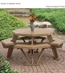 Composite Patio Table Finch Poly Furniture Octagon Picnic Table Outdoor Poly Furniture