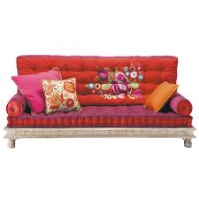 divano materasso maison du monde 2 3 seater cotton indian day bed multicoloured banquette