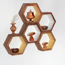 Diy Honeycomb Shelves by Honeycomb Shelf Hexagon Shelf Crystal Shelf Shadow Box Diy