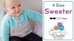 crochet baby sweater pattern crochet baby pull sweater tutorial the crochet crowd