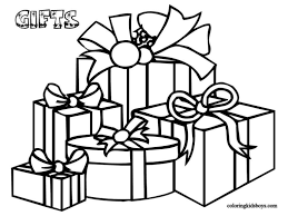 white boxes box bow coloring clipart cliparthut free