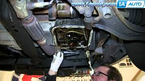 how to replace oil pan gasket fix oil leak 1998 01 nissan altima