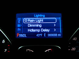 turn off interior lights ford explorer 2016 ford focus escape rain light and auto dimming youtube