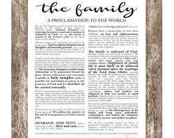 family proclamation the family proclamation lds print floral quote print