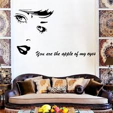 Wall Decals Patterns Color The by You Are The Apple Of My Eyes Quote Wall Sticker Stickers Wall