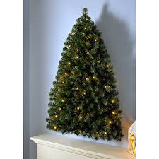 werchristmas pre lit wall mounted christmas tree with 80 warm