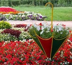 Backyard Decor Ideas Colorful Backyard Decorating Ideas With Umbrellas And Flowers