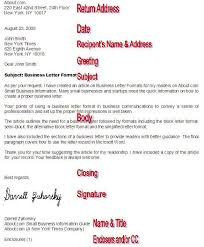 formal business letter formats proper letter format google