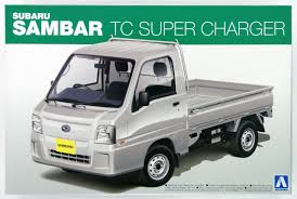 subaru sambar aoshima 07372 subaru sambar truck tc super charger 1 24 scale kit