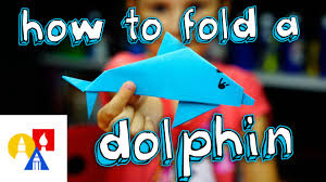 how to fold an origami dolphin youtube