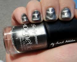 sally hansen magnetic nail color in 903 silver elements my