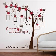 cadres chambre b fleurs arbre cadres photo wall sticker decal accueil murales