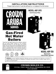 crown boiler boiler abf spd user guide manualsonline com