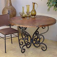 Hammered Copper Dining Table Copper Adds Eclectic Impact To Home Decor