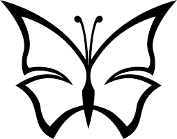 butterfly black and white simple butterfly clipart black and white