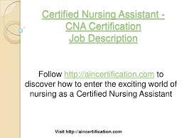 Cna Description Resume Cna Job Description Cna Skills Resume Resume Examples Cna