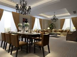 Dining Table Chandelier Dining Room Brilliant Dining Room Implemented With Several Candles