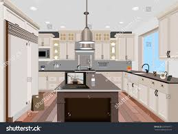 Modern Kitchen Interior Kitchen Interior Background Furnituredesign Modern Kitchen Stock