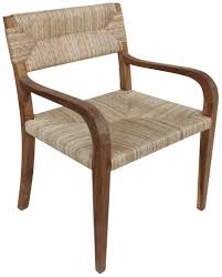 Seagrass Chairs For Sale Nita Teak Arm Chair With Rush Seat Mecox Gardens