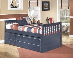 Captain Beds Twin by Leo Captains Bed With Trundle Storage Bernie U0026 Phyl U0027s Furniture