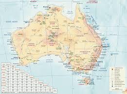 Australian Map Of The World by Www Mappi Net Maps Of Countries Australia