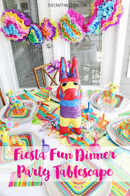 fiesta fun dinner party tablescape the crafting