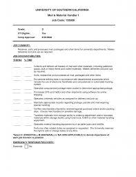 Warehouse Material Handler Resume Sample Material Handler Resume Material Handler Resume Example