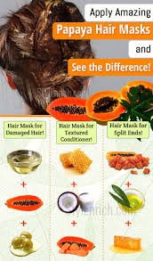 homemade hair mask with papaya for a complete hair care