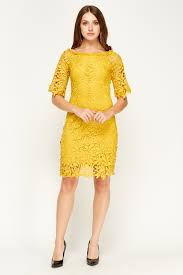 by swan mesh off shoulder mustard dress limited edition