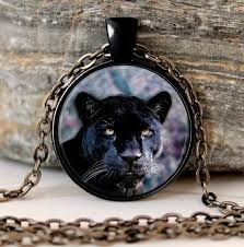 black cat pendant necklace images Black panther necklace cat pendant animal nature picture gothic jpg