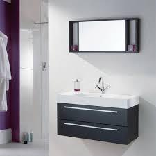 relax black wood wall mounted bathroom cabinet basin mirror benevola