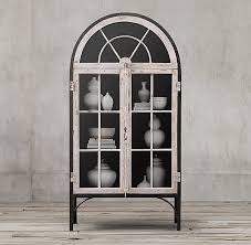 restoration hardware china cabinet conservatory double door cabinet